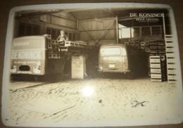 Petite Plaque émaillée Publicitaire De La Bière De Koninck Vers 1950 - Véhicules De Transport - Bieren - Brands