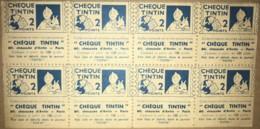 """Rare - Bande De 8 Points """"CHEQUE TINTIN"""" Pour Obtenir Un Cadeau Dans Le Journal TINTIN - Old Paper"""