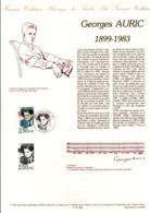 DOCUMENT FDC 1992 GEORGES AURIC - Documenten Van De Post