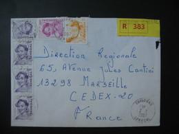 Lettre Recommandé  R 383  Sénégal  2007  Pour La France Marseille Cachet Thilogne   TP La Linquère - Senegal (1960-...)