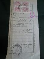 1927 Fiscali- Ricevuta Postale Deposito Avellino Vaglia Con Quartina Marca Da Bollo Da 50cent - 1900-44 Vittorio Emanuele III