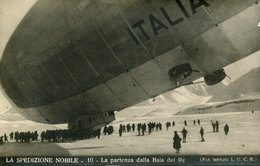 54645 Italia,cart.viaggiata Spedizione Generale Nobile Al Polo Nord 1928,partenza Dalla Baia Del Re De Dirigibile Italia - Historische Persönlichkeiten