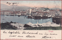 Trieste (Triest) * Hafen, Schiffe, Promenade * Italien * AK2649 - Trieste