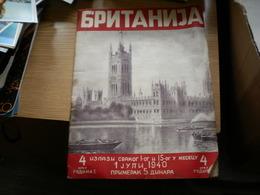 Britanija  1940 English Propaganda Magazine In Serbian - Bücher, Zeitschriften, Comics