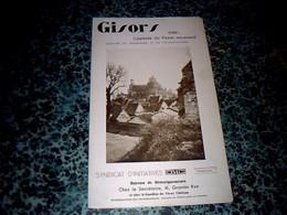 Dépliant Touristique Avec Des Pubs De 1936 Gisors Capitale Du Vexin Normand - Dépliants Touristiques