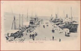 Trieste (Triest) * Molo San Carlo, Karlsmolo, Pferde, Hafen, Dampfer, Segelboot, Schiffe, Leute * Italien * AK2651 - Trieste
