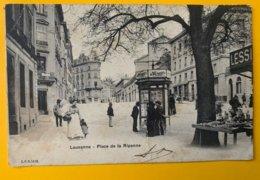 12486 - Lausanne Place De La Riponne état Moyen Pli - VD Waadt