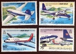British Virgin Islands 1982 Air BVI Aviation Aircraft MNH - British Virgin Islands