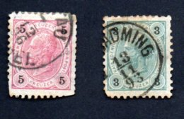 Francobolli Impero Austro Ungarici - 3 E 5 Kreuzer 1890-1906 - Unclassified