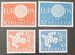 SUISSE    Europa 1960 Et 1961    N° Y&T  666, 667, 682 Et 683  ** - Svizzera