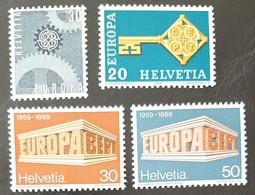 SUISSE    Europa 1967, 1968 Et 1969    N° Y&T  783, 806, 832 Et 833  ** - Svizzera