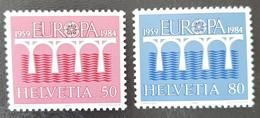SUISSE    Europa 1984    N° Y&T  1199 Et 1200  ** - Svizzera