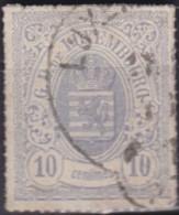 Luxembourg  .     Yvert    .   17      .      O    .      Oblitéré     .   /   .   Gebraucht - 1859-1880 Armoiries