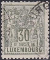 Luxembourg  .     Yvert    .   55     .      O    .      Oblitéré     .   /   .   Gebraucht - 1882 Allegory