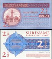 Suriname 2 1/2 Dollar. 01.01.2004 Unc. Banknote Cat# P.156a - Surinam