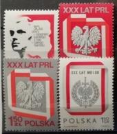 Pologne 1974 / Yvert N°2165-2167 + 2184 / ** - 1944-.... Republic