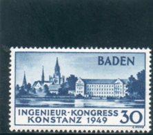 BADEN 1949 ** - Zona Francesa