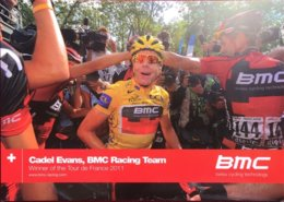 Postcard Cadel Evans - BMC Racing Team (Tour De France Winner 2011) - Cycling