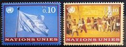 NATIONS-UNIS  GENEVE                  N° 323/324                      NEUF** - Unused Stamps