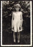Child Cute Girl Outside Old Photo 13x9 Cm #30582 - Persone Anonimi