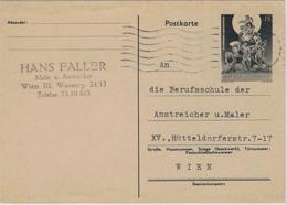 """Ganzsache 100 Jahre Arbeiterbewegung - Rs. """"Lehrverhältnis Gelöst"""" - Wien 1965 - 1961-70 Briefe U. Dokumente"""