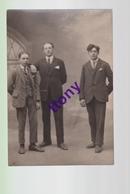 Cpa Photo Carte  De 3 Hommes Studio A.Erhard  ( Doubs ) - Silhouettes