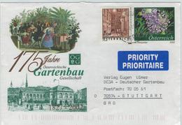 Ganzsache Gartenbau-Gesellschaft - Schönlatern-Gasse Wien - Zwiebel-Blüte 2002 - 1945-.... 2ème République