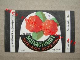 MÁLNA GYÖNGYE - SZÉNSAVAS ÜDÍTŐITAL ( 1965 ) - Fruits & Vegetables