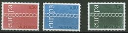 Europa CEPT 1971 Monaco Y&T N°863 à 865 - Michel N°1014 à 1016 *** - 1971