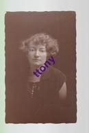 Cpa    Photo Carte  Portrait De Femme  Carte Non Circulée  état Correct - Silhouettes