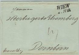 Wien Nach Dornbirn Vorarlberg - Herburg,er & Rhombert (Textil-Fabrik) - 1841 Vormärz - Österreich