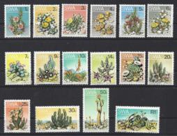"""SOUTH WEST AFRICA.....QUEEN ELIZABETH II.(1952-NOW).."""" 1973..""""...SUCCULENTS...SET OF 16...........MNH.. - Cactusses"""