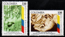 B073M - KOLUMBIEN - 1995- MI#:1993-1994 -MNH- NATIONAL POLICE AGAIN NARCOTRAFIC - Colombia