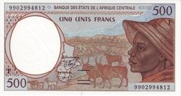 East African States - Afrique Centrale Centrafrique 1999 Billet 500 Francs Pick 301 F Neuf UNC - Central African Republic