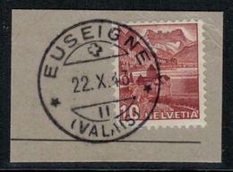 Suisse // Schweiz // Non Classée // Valais //  Oblitération Valaisanne Sur Fragment (Euseigne) - Ohne Zuordnung