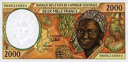 East African States - Afrique Centrale Centrafrique 1998 Billet 2000 Francs Pick 303 E Neuf UNC - Central African Republic