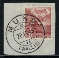 Suisse // Schweiz // Non Classée // Valais //  Oblitération Valaisanne Sur Fragment (Mund) - Ohne Zuordnung