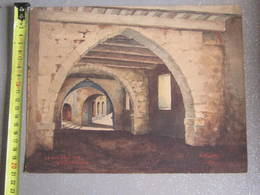 TABLEAU La Rue Obscur A Villefranche A KRAFF 1936 - Watercolours
