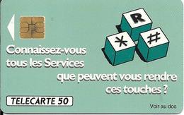 CARTE-PUBLIC-F177A-50U-SO3 -08/91-CONVERSATION A  TROIS-V° N° A  POINTU A 185354-UTILISE-TBE- RARE - France
