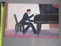 TABLEAU PIANISTE SIGNE M.CORBAZ - Watercolours