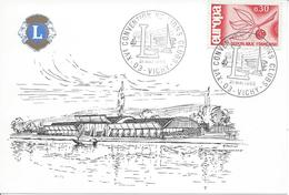 VICHY 1966 Convention Nationale LIONS CLUB INTERNATIONAL Sur Carte Postale Timbre Europa - Marcophilie (Lettres)