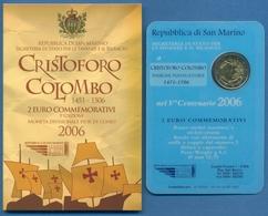 San Marino 2 Euro 2006 Christoph Kolumbus, Im Original Folder, St (m1439) - San Marino