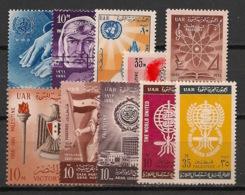 Palestine - Egypt Occupation - 1961-62 - N°Yv. 78 à 87 - Complet 10 Valeurs - Neuf Luxe ** / MNH / Postfrisch - Palästina