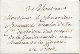 Lettre Sans Marque Postale 1827 CHOISY LE ROI Pour PARIS Pas De Taxe (Porteur Pour Bureau De La Guerre Gendarmerie)) - Autres