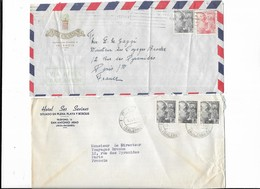 Lot 2 Enveloppes 1955  Espagne Hotel Excelsior Valencia - Ses Sevines San Antonio - Marcofilia - EMA ( Maquina De Huellas A Franquear)