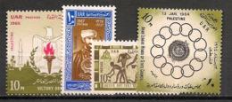 Palestine - Egypt Occupation - 1964-67 - N°Yv. 116 + 131 à 133 - 4 Valeurs - Neuf Luxe ** / MNH / Postfrisch - Palästina