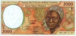 East African States - Afrique Centrale Gabon 2000 Billet 2000 Francs Pick 403 G Neuf UNC - Gabun