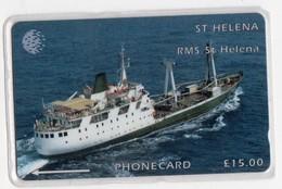 SAINTE-HELENE  Ref MV CARDS STH-14 15£ RMS SAINT HELENA SHIP 2 1500 Ex.CN :5CSHC - Sainte-Hélène