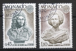 Monaco 1974 Y&T N°957 à 958 - Michel N°1114 à 1115 (o) - EUROPA - Used Stamps