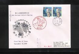 Japan  1999 Golf Interesting Airmail Letter - Golf